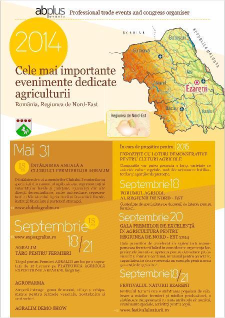 Cele mai importante evenimente dedicate agriculturii @ Romania, regiunea de Nord-Est